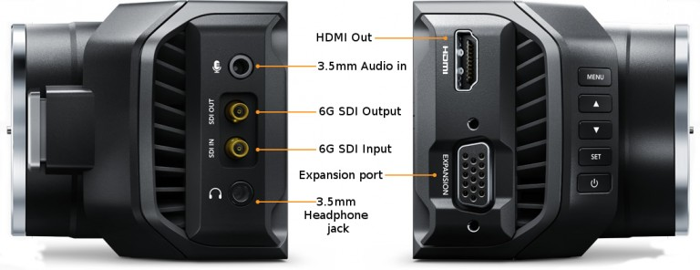 Blackmagic Micro Studio 4k connections