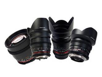 Samyang VDSLR EF lenses hire London