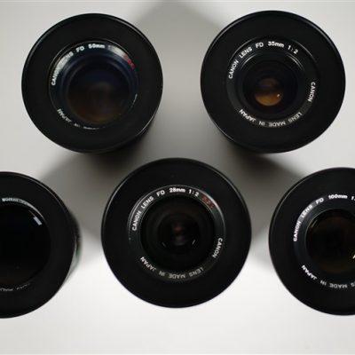 Canon FD lens set