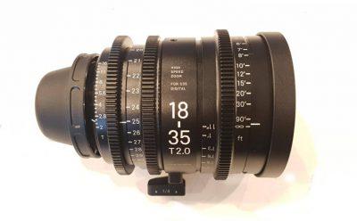 Sigma 18-35 cine zoom lens hire