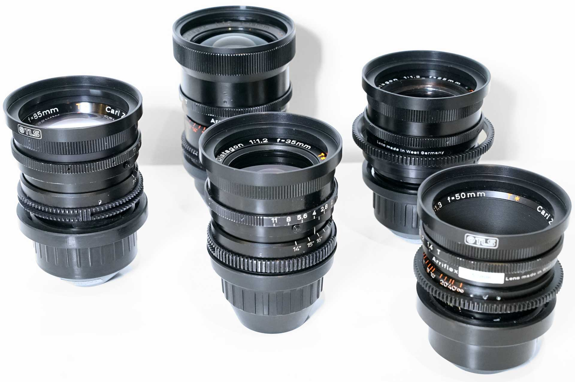 Zeiss Superspeed MK1 B-Speed Prime Lens Set T1 4